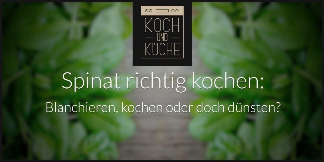 ᐅ Spinat kochen leichtgemacht – Professionell gegarter Blattspinat